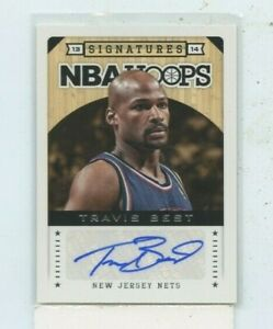 Travis Best 2013 14 Panini NBA Hoops Signatures Auto Autograph #53 New Jersey