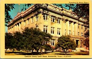 Vtg Postcard Cameron County Court House Brownsville Texas TX Unused
