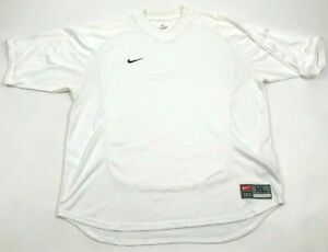 VINTAGE Nike Dry Fit Shirt Size Extra Large XL White V neck Short Sleeve Dri FIT $18.77