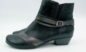 Remonte Womens Boots Black Ankle Boots Booties Size 40 $28.00