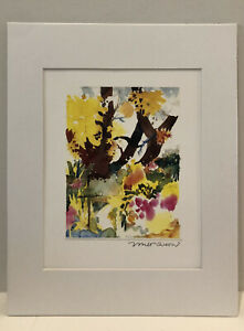Modern Lithograph Abstract Landscape By Milt Quonset Signed In Print amp; In Pencil $25.00