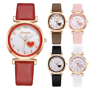 Women Girl Wristwatch Casual Quartz Leather Strap Band Analog Watch Party Casual $4.27