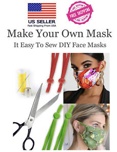 Mix Colors DIY Mask Sewing Elastic Band with Adjustable Buckle. $10.95