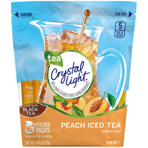 Crystal Light Peach Ice Tea 16 Pitcher Packs 32 Qts FREE 2 4 Day USPS Shipng $32.44