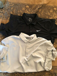 LOT OF 2 NIKE GOLF DRI FIT amp; Under Armour POLO SHIRTs MENS SIZE Large EUC $25.00