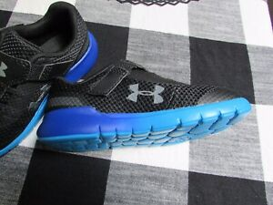 Under Armour Black With Blue Toddler Boy Shoes Size 10 NEW $34.95