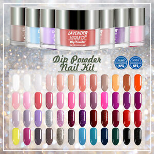 Dipping Powder Nail Starter Kit of 4 French N Colored Acrylic Powders Set $17.49