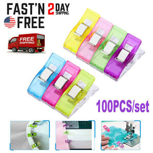 100PCS Plastic Sewing Clips Clamp for Craft Quilting Sewing Knitting Crochet NEW $8.59
