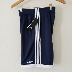 NWT Adidas Blue and White Youth Shorts Size M 10 12 100% polyester $12.99