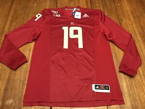 NWTs Adidas Rutgers 2019 150th Football Anniversary Jersey Size Mens SMALL $34.00
