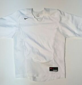 VINTAGE Nike Dry Fit Shirt Size Large White V neck Short Sleeve Dri FIT $19.99