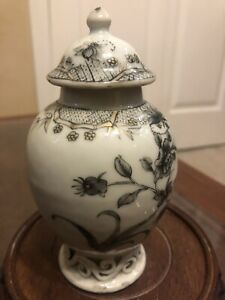 Chinese antique 18th Porcelain Tea Caddy $185.00