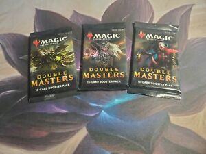 MTG Magic The Gathering Double Masters 3 Sealed Booster Packs Three Boosters