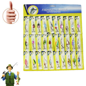 Smooth Trout Spoon Metal Fishing Lures Spinner Baits Bass Tackle 30 pcs Well