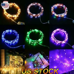 Christmas LED String Fairy Lights USB Copper Wire Remote Timer Xmas Party Home $8.49