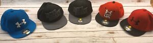 Lot Of 5 Under Armour Hats Youth Sm Md Some STAINS FREE SHIPPING $35.10