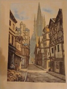 Antique french Etching Signed Luay? $100.00