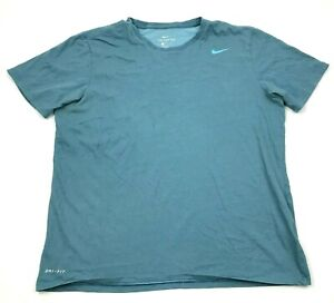 Nike Dry Fit Shirt Size Extra Large XL Blue Short Sleeve Dri FIT Quick Dry Tee $18.77
