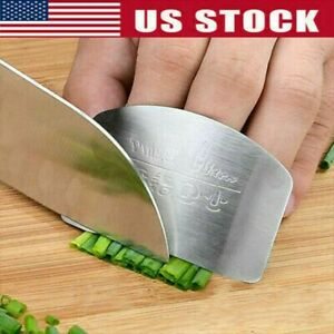 Kitchen Stainless Steel Finger Protector Hand Cut Guard Safe Slice Cutlery Tools $4.89