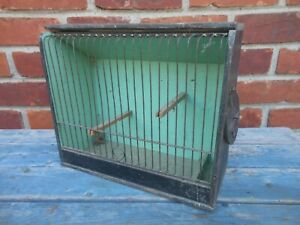 Good Antique American Wood And wire Birdcage In Original Paint $19.99
