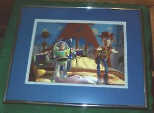 15in. x 12in. Matted amp; Framed 1996 TOY STORY Exclusive Commemorative Lithograph $22.99