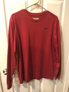 NIKE LONG SLEEVE DRY FIT SPORTS TEE MENS SIZE LARGE NEW AUTHENTIC $10.00