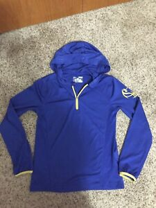 BOYS UNDER ARMOUR STEPHEN CURRY HEAT GEAR HOODIE SHIRT YOUTH SMALL BLUE $14.99