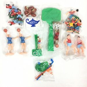 VINTAGE Sports Assortment Cake Cupcake Food Toppers Decorations GOLF Football $19.99