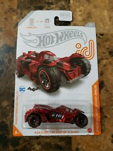 BATMAN ARKHAM KNIGHT BATMOBILE RED CAMO 2021 HOT WHEELS ID CHASE CAR DC $18.98