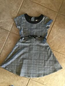 The Children's Place girls fit and flare houndstooth belted dress size 8 $12.99