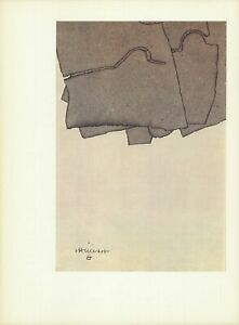 EDUARDO CHILLIDA Untitled 15quot; x 11quot; Lithograph Abstract $250.00