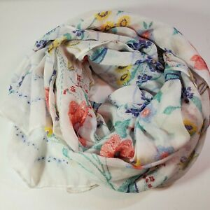 Old Navy Women's Floral Cream Scarf One Size Fits All 182 x 81 cm $11.99