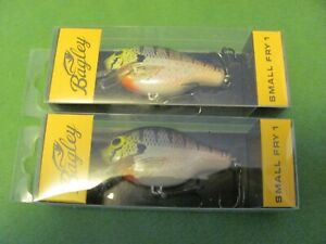 2 Bagley Small Fly1 1 4oz Dives to 3 6#x27; Lures. SF1 BR .