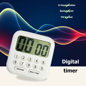 Multifunction LCD Digital Timer Count Down Up Clock Reminder Magnetic Stopwatch