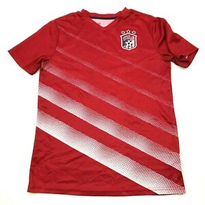 Team USA Soccer Dry Fit Shirt Youth Size Extra Large 14 16 Red Short Sleeve Tee $11.82