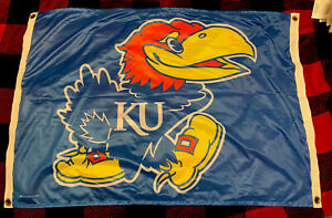 Kansas Jayhawks KU Basketball Football Tailgate Flag 2 X 3 Ft