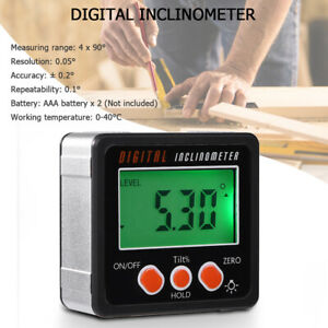 Digital Inclinometer Level Box Protractor Angle Finder Bevel Gauge Magnet 4*90° $12.57