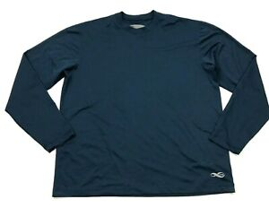 REI Dry Fit Shirt Mens Size Medium Navy Blue Long Sleeve Mid Layer Tee Wick USA $18.22