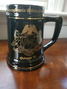 Vintage PMC Pennsylvania Military College Pottery Mug Beer Stein Quiogue 61 $20.00