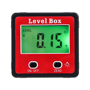 Digital Bevel Box Protractor Gauge Angle Finder Inclinometer Magnetic TOOL LCD $13.59