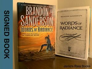 Words of Radiance SIGNED BOOK Brandon Sanderson 1ST EDITION Hardcover $99.99