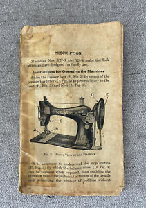 Instructions Manual for Singer Sewing Machines 127 3amp;128 3 Vintage 1940 No Cover $14.99