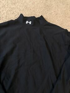 Womens Under Armour Cold Gear Mock Turtle Neck Long Sleeve Shirt Black Large $26.80