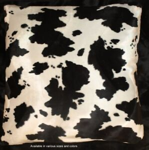 Cow Print Western Pillow Cover Pillow 18x18 set of 2