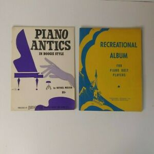 LOT of TWO Piano Sheet Music Booklets Piano Antics in Boogie Style Piano Duets $15.99