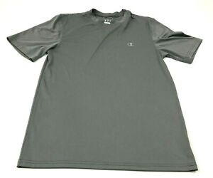 Champion Dry Fit Shirt Mens Size Small Adult Gray Short Sleeve Reflective Tee $18.77