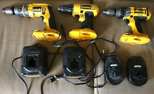 DEWALT Drill Set 18V DW989 DW987 DW759 w 2 Chargers and 2 Batteries Working $109.99