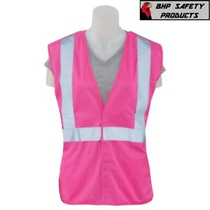 ERB Non ANSI Reflective Safety Vest with Pockets Pink $12.75