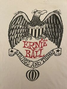 Vintage Ernie Ball Guitar Strings And Things Shirt Large Medium