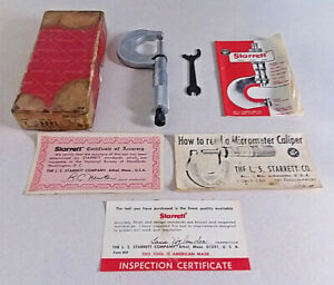 VINTAGE STARRETT MICROMETER 230 MACHINIST TOOLS PRECISION GAUGES CALIPERS USA $35.00